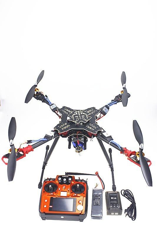Foldable Rack Quadcopter RTF AT10 Transmitter QQ Flight Control Motor ESC Propeller Camera PTZ Battery Charger F11066-D naza m v2 flight control