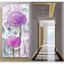 5D DIY diamond embroidery crystal flowers painting patterns mosaic full Square Rhinestone dandelion Butterfly larger Pictures