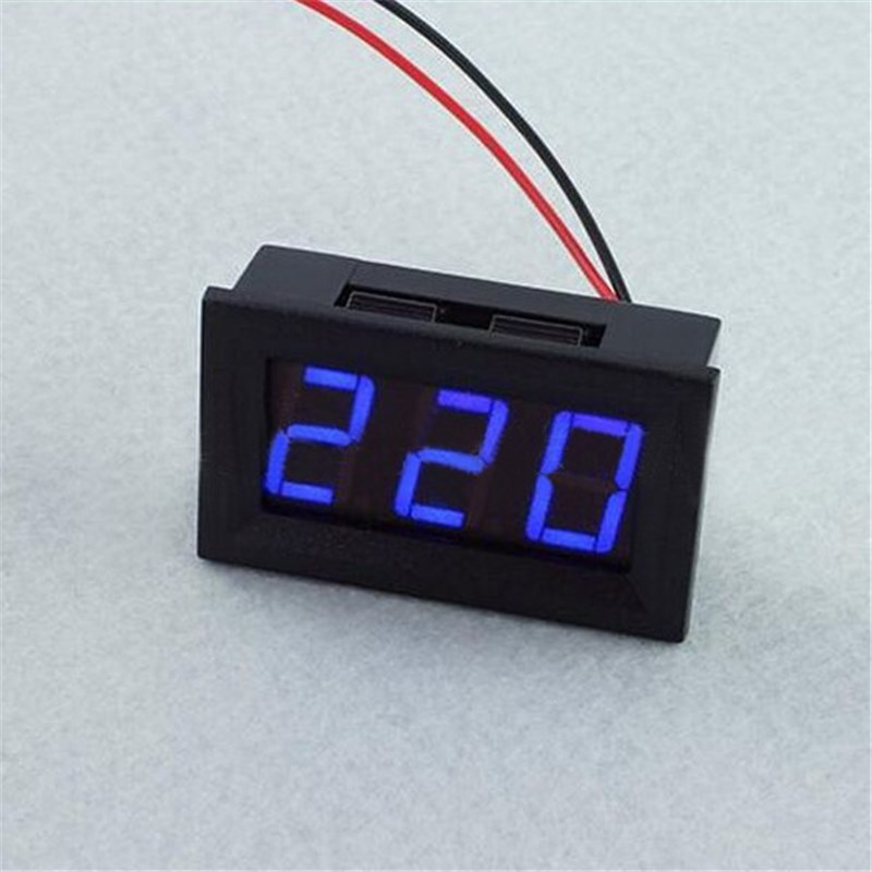 New Arrival 3PCS Blue YB27A 0.56 Inch LED AC70-500V Digital Voltmeter Voltage Display Pa ...