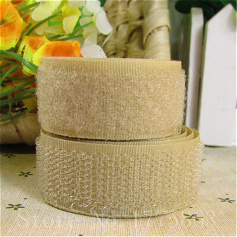 5 Yards 20mm Bredde Khaki Sy på Hook and Loop Tape AA7309