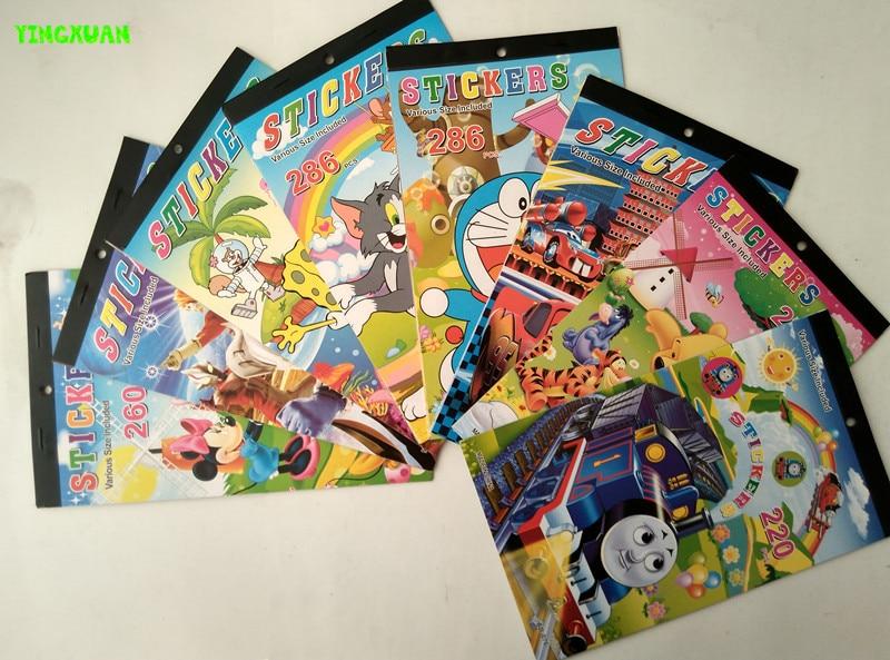 5 bookslot kids sticker book cars tomas wild animals boys classic toys cartoon characters