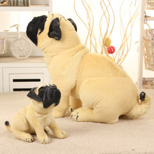 New Stuffed Simulation Dogs Plush Sharpei Pug Lovely Puppy Pet Toy Plush Animal Toy Children Kids Toys Birthday Christmas Gifts(China)