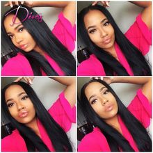 Unprocessed Natural Straight Brazilian Virgim Remy Human Hair Lace Front Wigs for Black Women 8-26inch in Stock Full Lace Wig