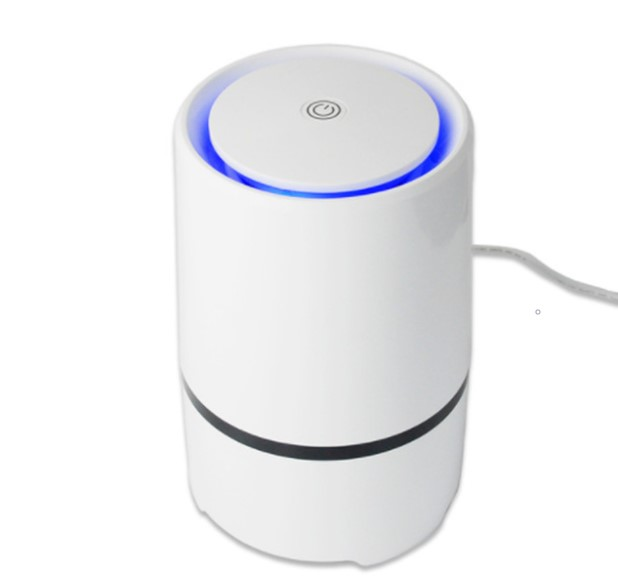 Home and Office Desktop HEPA Filter Air Purifier Portable Ionizer Negative ion USB Air purifiers LED light