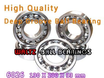 130mm Aperture High Quality Deep Groove Ball Bearing 6026 130x200x33 OPEN Ball Bearing 95mm aperture high quality deep groove ball bearing 6219 95x170x32 open ball bearing