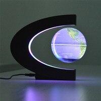 CHENGYILT Led Night Light Floating Tellurion C Shape Magnetic Levitation Floating Globe World Map Night Lamp