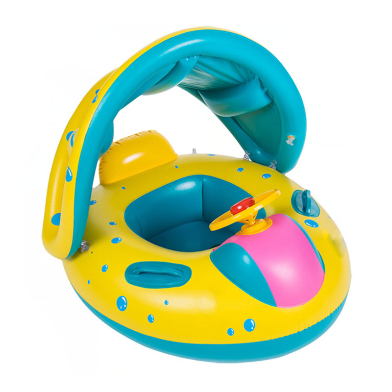 Summer Baby Kids Safety Float Swim Pool Inflatable Ride-ons Toys Seat Boat Infant Water Floating Yacht