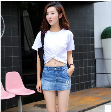 S/3Xl Womens Slim Denim Skirt Shorts Plus Size Skinny Casual Jeans Short Bermuda Feminina Sexy Summer Jeans Mini Short J2244