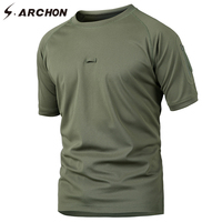 S ARCHON Coolmax Militar Camouflage T Shirt Quick Dry Breathable Paintball Combat Army T Shirt Men
