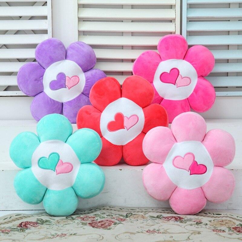Genteel 1pc 40x40x10cm 4 Patterns Lovely Flower Pillow Plush Stuffed Toys Petal Cushion Home Decoration First-class Fabric Soft Cushions Toys & Hobbies Stuffed Animals & Plush