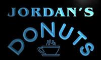 X0263 Tm Jordan S Donuts Coffee Custom Personalized Name Neon Sign Wholesale Dropshipping