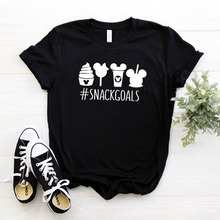 Snack goals Women tshirt Cotton Casual Funny t shirt For Lady