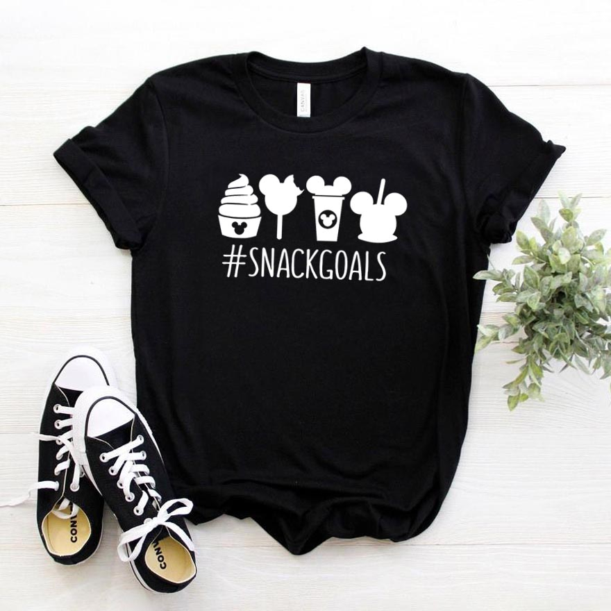Snack Goals Women Tshirt Cotton Casual Funny T Shirt For Lady Girl Top Tee Hipster Drop Ship NA-195