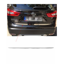 Chrome Rear Door Trunk Sticker for Nissan Qashqai 2014 2015 2016 2017 Molding Tailgate Boot Trunk Trim Cover