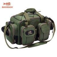 Bassdash pesca tackle saco leve tático bolsa de ombro grande capacidade multifuncional portátil