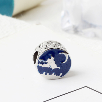 Free Shipping Sliver Plated Bead Mickey Fairytale Dumbo Love Charm Fit Pandora Bracelet Necklace 2