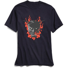 Japan Ghost Tshirt Male 100% Cotton T Shirt Men Short Sleeve Horror Summer T-shirts Black Tops & Tees Latest High Quality Camisa