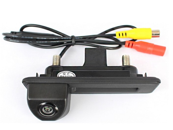 CCD night viosn car trunk handle reverse parking rear view font b camera b font for