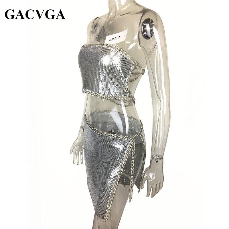 GACVGA 2019 Сексуалдық металды кесу - Әйелдер киімі - фото 5