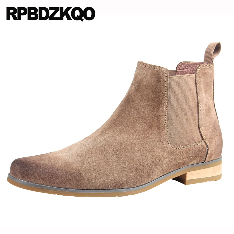 boots suede 2018 booties retro designer shoes men high quality full grain vintage autumn slip on chelsea genuine leather runwayboots suede 2018 booties retro designer shoes men high quality full grain vintage autumn slip on chelsea genuine leather runway