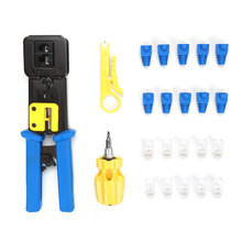 Manual crimping pliers 6P8P multi-function cable clamp screwdriver hand network tools Cable Stripper