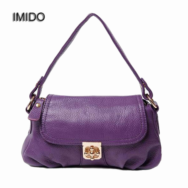 IMIDO Hot Sale 2017 Women Messenger Bags Soft Cowhide Genuine Leather Crossbody Female Shoulder Bags for Ladies Handbag MG019 цена в Москве и Питере