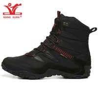 Zapatillas de senderismo para hombre, botas tácticas para acampar al aire libre, zapatillas deportivas impermeables para nieve, senderismo, montaña, caza