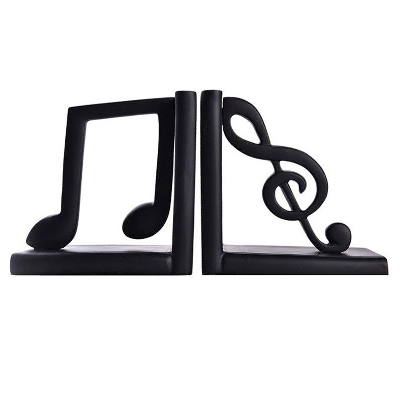 Vintage résine musique symbole serre-livres Figurine ornements rétro livre Stand armoire décoration ameublement bureau bibliothèque cadeaux