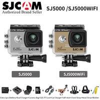 Оригинальный SJCAM SJ5000 серии Действие Видео Камера SJ5000X 4 К Elite & SJ5000 Wi Fi и SJ5000 одноцветное Мини Открытый Спорт видеокамера DV SJ c