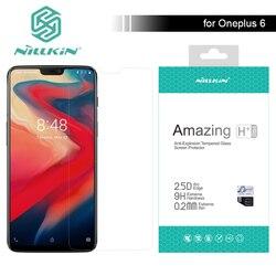 Dla Oneplus 6 Nillkin szkło 9 H niesamowite H/H + Pro ochraniacz ekranu ze szkła hartowanego dla Oneplus 6 jeden Plus 6 nillkin 2.5D szkło