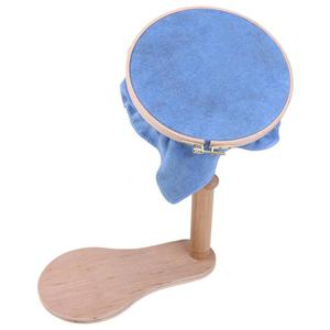 Image 3 - 24/28cm Circle Adjustable Wood Embroidery Stand Hoop Cross Stitch Ring Frame Embroidery Tools 31  42cm Height Sewing Accessories