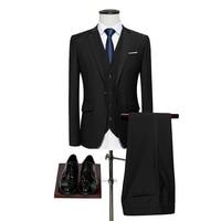 Loldeal 3 piece Slim Fit Royal Blue Men's Suit Set Wedding Groom Tuxedos Suit Dress Men Formal Business Suit with Pants Dinner