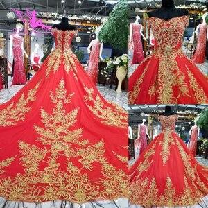 Image 1 - AIJINGYU robes de mariée à manches longues en dentelle et Tulle robes de mariée musulmanes avec prix 3 en 1 porter robe de mariée de grande taille corée