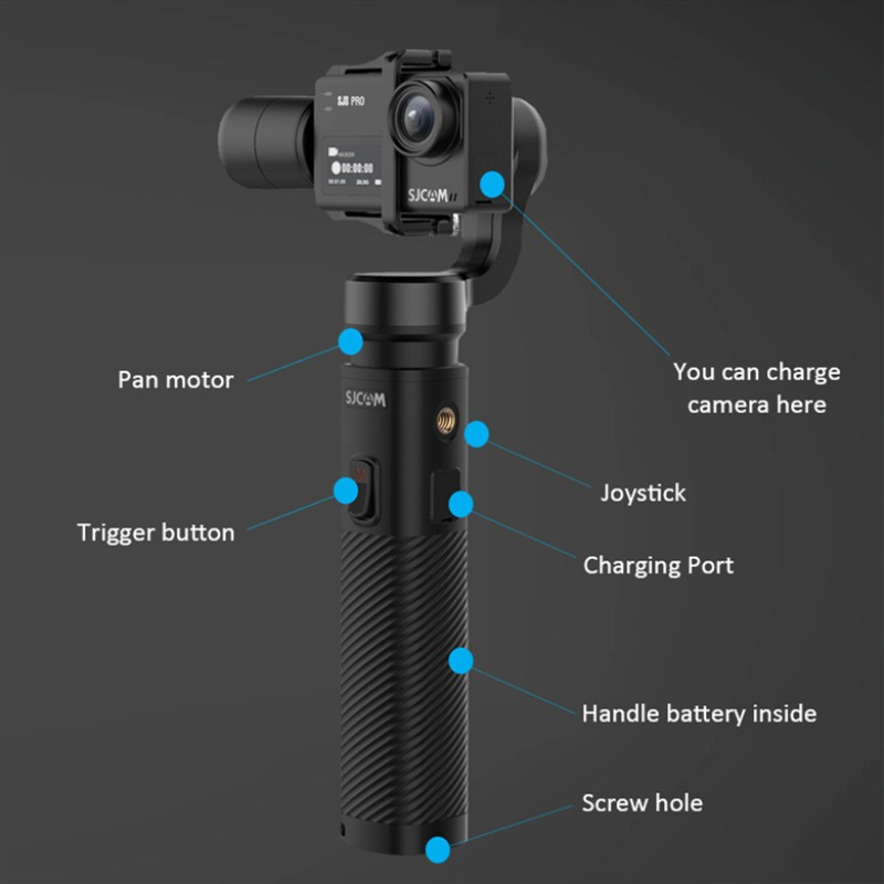 SJCAM SJ-Gimbal 2 Handheld GIMBAL 3 Axis Stabilizer Bluetooth Control for SJ6 SJ7 SJ8 Pro/Plus/Air Action Camera for Yi Camera update sjcam handheld gimbal sj gimbal 2 3 axis stabilizer bluetooth control for sjcam sj8 series sj7 star sj6 sj8 pro yi 4k cam