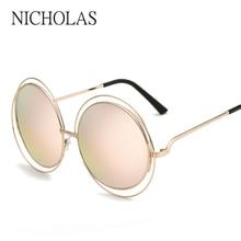 NICHOLAS Retro Round Women Sunglasses Women Brand Desiger Fe