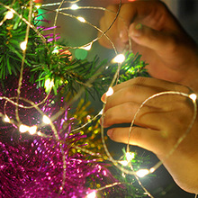 TSLEEN 5M 50 LEDs Silver Wire Christmas Xmas Lamps Fairy String Waterproof Party Wedding Birthday Lights Lamp