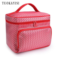 Waterproof Cosmetic Bag Big Professional Toiletry Bags Travel Makeup Case Beauty Necessaries Make Up Storage Beautician
