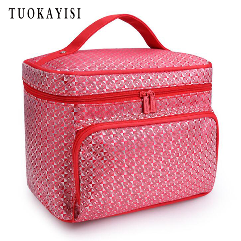 Waterproof Cosmetic Bag font b Big b font Professional Toiletry Bags Travel Makeup Case Beauty Necessaries