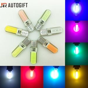 10PCS T10 W5W LED car interior light COB marker lamp RGBWY 24V 12V 168 194 501 Side Wedge parking bulb auto for lada car styling(China)
