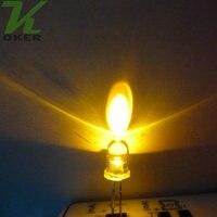бесплатная доставка 500 шт. 5 мм супер желтый круглый из светодиодов крыльцо свет лампы
