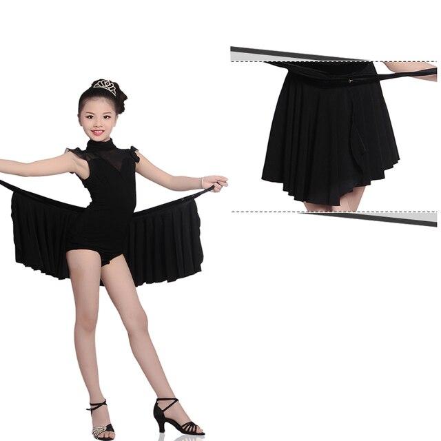 7b1e1bf18 Envío libre Niñas Latino salsa tango danza vestido Kid Salón vestido del  baile del funcionamiento niño