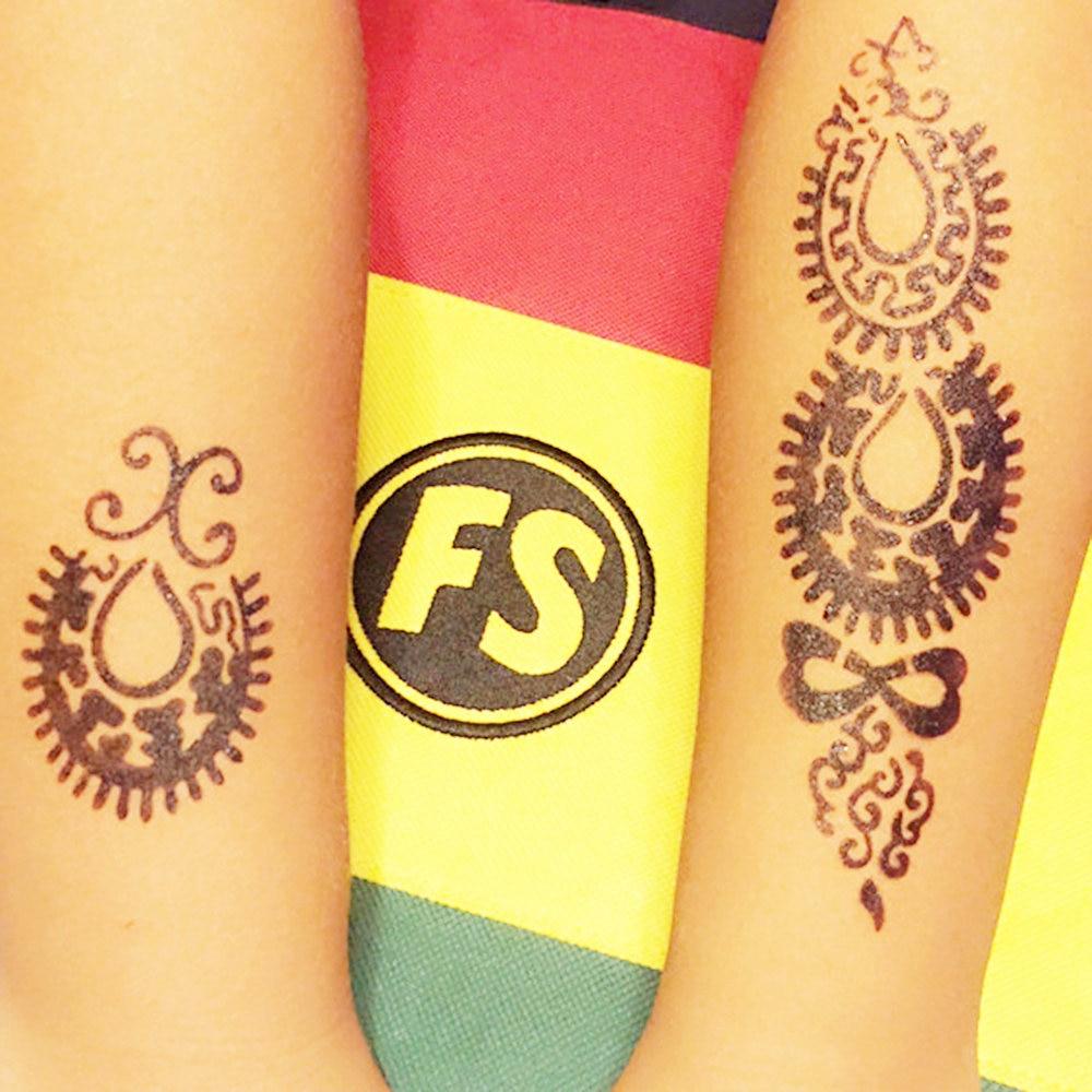 1pc Indian Henna Tattoo Stencils Rose Flower Design Yl05 Beauty