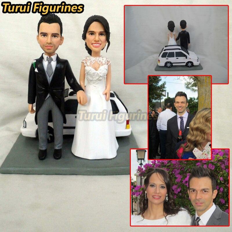 Turui фигурки пользовательские свадебные приглашения Гостевая книга миниатюры украшения торта Топпер Декор вечерние пользу Полимерная глин