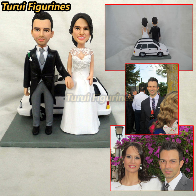 Turui Figurines custom wedding invitation guest book miniature cake topper decorations decor party favor polymer clay baby doll