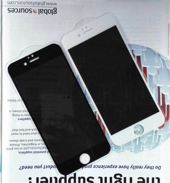 5 ШТ. 360 Высокого проникновения Для iPhone6 6 S плюс анти шпион выглядывает Конфиденциальности Анти-Шпион Экран Из Закаленного Стекла протектор
