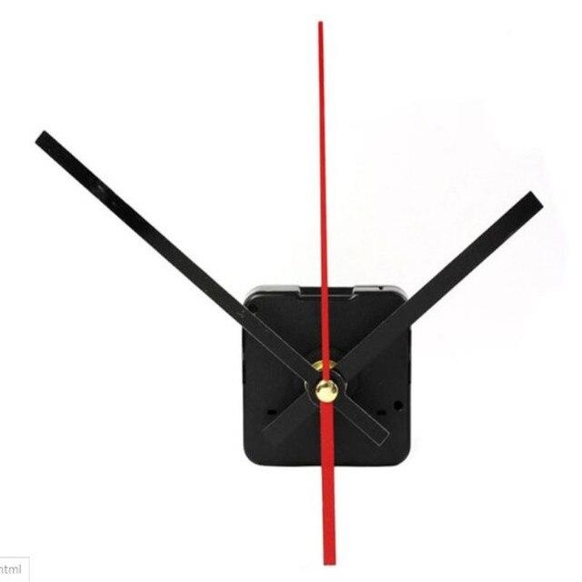 1 conjunto relógio de Parede Relógio de Quartzo Mecanismo de Movimento Mãos Preto e Vermelho Reparação Kit Conjunto De Ferramentas para o Relógio de Parede Design Moderno o Transporte da gota