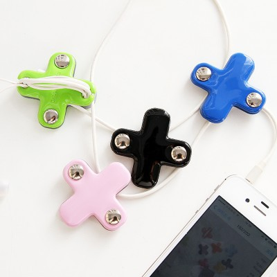 Cross Style headset headphone bobbin winder cable Cord  Holder For Iphone samsung earphone USB Cable Organizer Wire Holder