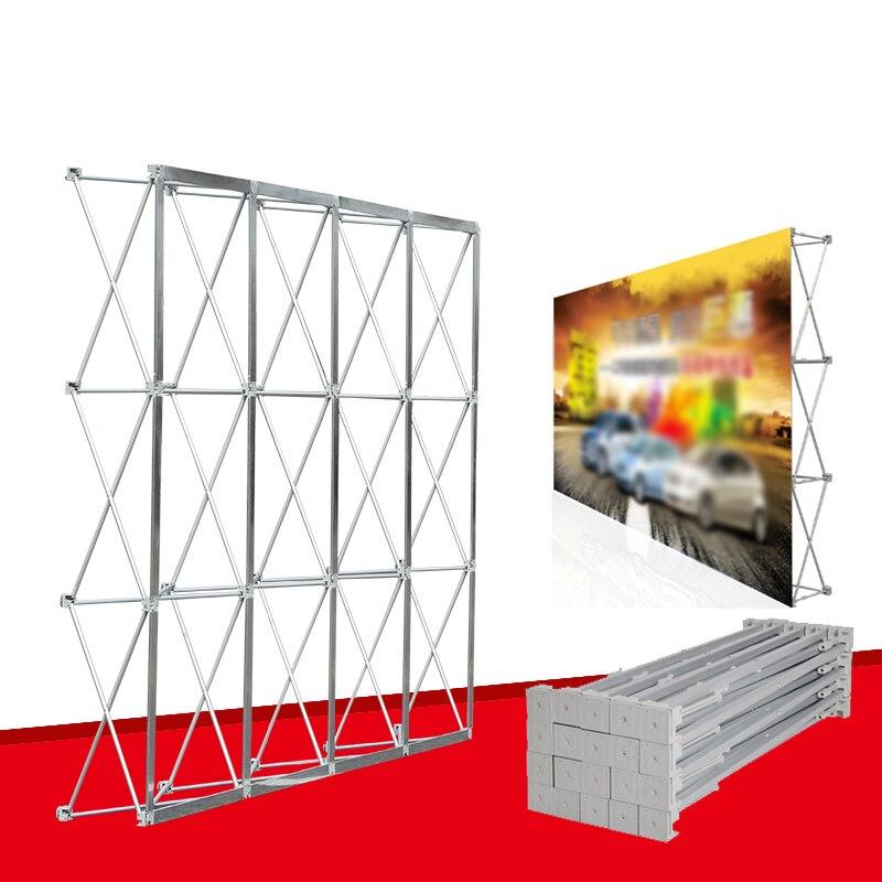 Support pliable portatif d'alliage d'aluminium de cadre de mur de fleur de mariage affichage extérieur plaque de fond de Concert d'exposition de publicité