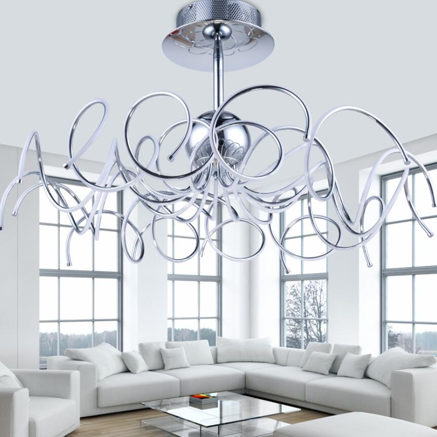 Wrought Iron Living Room Led Pendant Light Modern Brief Lamps Lighting In Lights From On Aliexpress