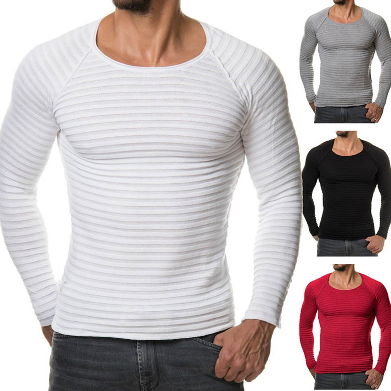 2018 Mens Muscle T Shirts Crossfit Tee Top Long Sleeves Crew
